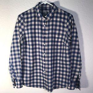 J Crew blue gingham plaid size 6 shirt